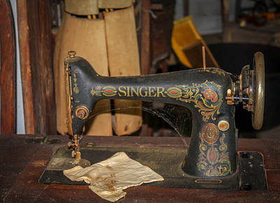 Poster featuring the photograph Singer Sewing Machine  by Trace Kittrell