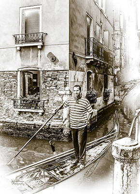 Singing Gondolier Poster by Julie Palencia