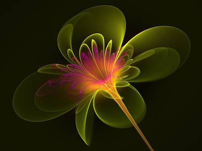 Poster featuring the digital art Single Flower by Svetlana Nikolova