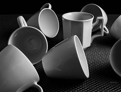 Poster featuring the photograph Singled Out - Coffee Cups by Steven Milner