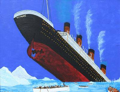 Sinking Of Rms Titanic Poster by Bill Hubbard