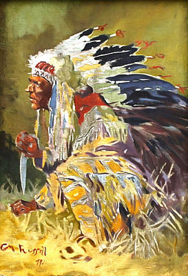 Sioux Chief Poster by Charles Russell