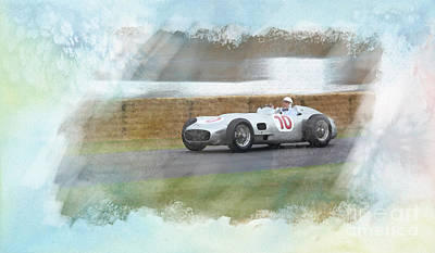 Sir Stirling Moss Poster by Roger Lighterness