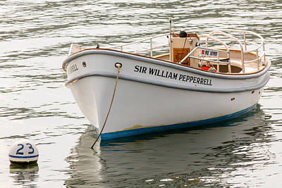 Sir William Pepperrell Boat In Maine Poster by Laura Duhaime