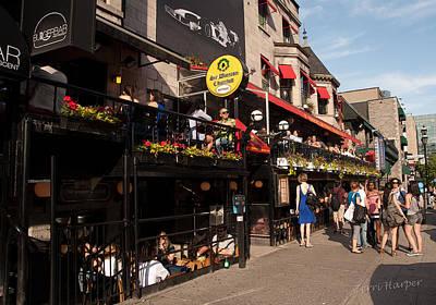 Sir Winston Churchill Pub On Rue De Crescent In Montreal Poster by Terri Harper