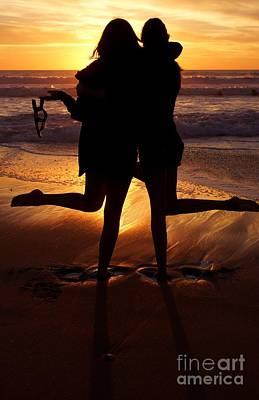 Sister Sunset Poster by Kerri Mortenson