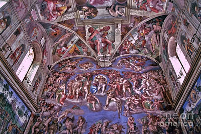 Poster featuring the photograph Sistine Chapel by Allen Beatty