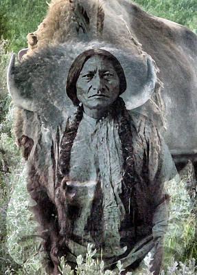 Sitting Bull . Lakota Sioux Holy Man Poster