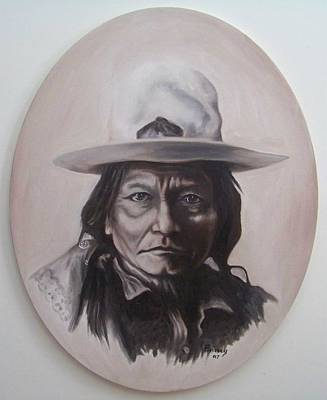 Poster featuring the painting Sitting Bull by Michael  TMAD Finney