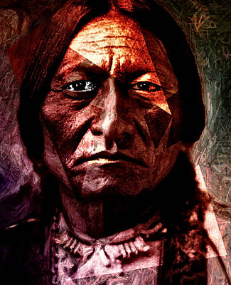 Sitting Bull - Warrior - Medicine Man Poster by Hartmut Jager