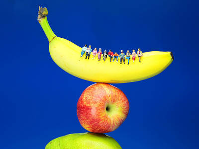 Sitting On Fruits Mountain II Miniature Art Poster by Paul Ge