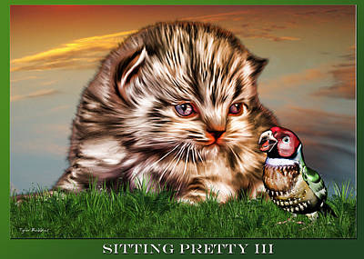 Poster featuring the painting Sitting Pretty 3 by Tyler Robbins