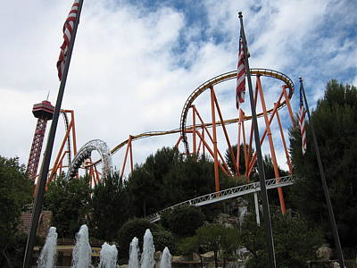 Six Flags Magic Mountain - 12123 Poster by DC Photographer