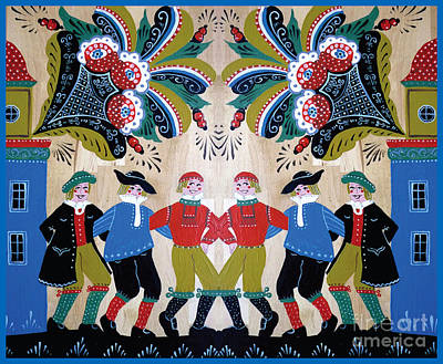 Six Men Dancing Poster