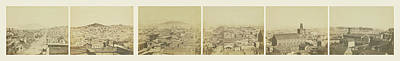 Six-part Panorama Of San Francisco From San Francisco Album Poster by Litz Collection