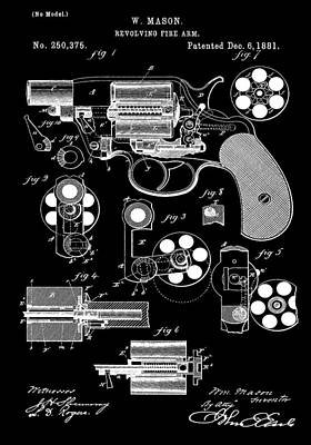 Six Shooter Patent Poster by Dan Sproul
