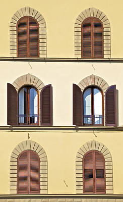 Six Windows Of Florence Poster