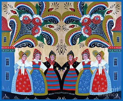 Six Women Dancing Poster