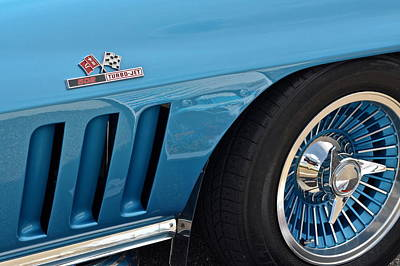 Sixty Six Corvette Roadster Poster by Frozen in Time Fine Art Photography