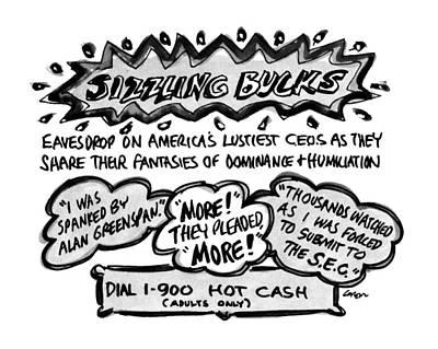 Sizzling Bucks Eavesdrop On America's Lustiest Poster