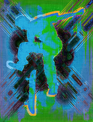 Skateboarder Abstract Poster
