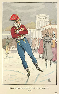 Skating At La Villete Poster by British Library