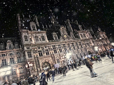 Skating At The Hotel De Ville Poster