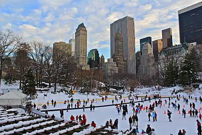 Skating In Central Park Poster