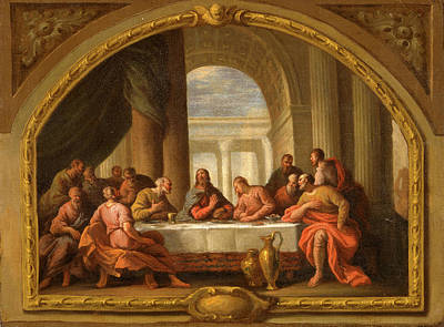 Sketch For The Last Supper Poster by Litz Collection