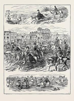 Sketches At Brighton, 1870 Poster