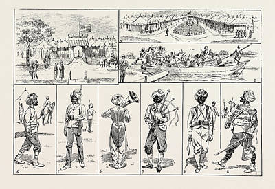 Sketches At The Rawul Pindi Durbar, 1885. 1. Entrance Poster