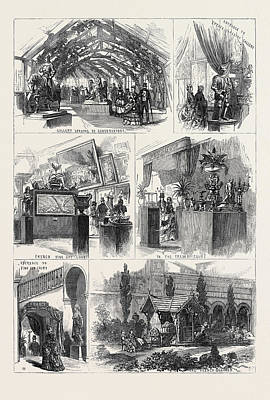 Sketches In The International Exhibition 1871 Poster by English School