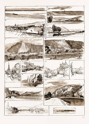 Sketches On The Meuse Between Namur And Givet, 1883 1 Poster by Litz Collection