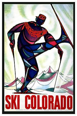 Ski Colorado Poster by David Wagner