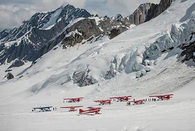 Ski Planes At The Don Sheldon Mountain Poster