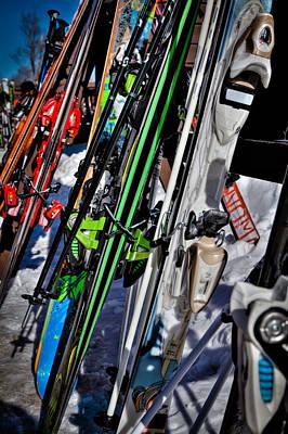 Skis At Mccauley Mountain II Poster by David Patterson