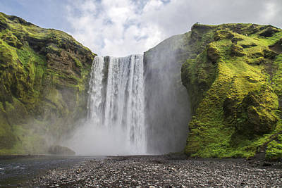 Skogarfoss Waterfall Poster