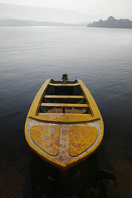 Poster featuring the photograph Skc 0042 Calmness Anchored by Sunil Kapadia