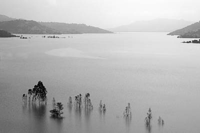 Poster featuring the photograph Skc 0055 A Hazy Riverscape by Sunil Kapadia