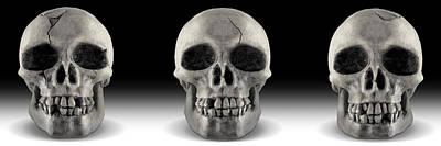 Skull 4 Panoramic Poster by Mike McGlothlen