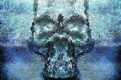 Skull In The Mirror Poster