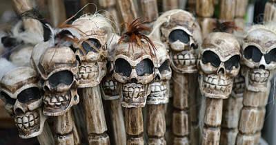 Skull Sticks Poster