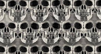 Skulls 1 Poster by Mike McGlothlen