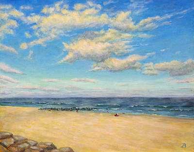 Poster featuring the painting Sky And Sand by Joe Bergholm