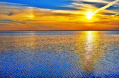 Sky And Water Sunset Outer Banks I Poster by Dan Carmichael