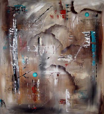 Sky City - Original Abstract Art By Fidostudio60 Poster by Tom Fedro - Fidostudio