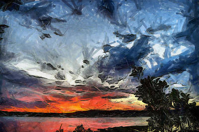 Poster featuring the painting Sky by Georgi Dimitrov