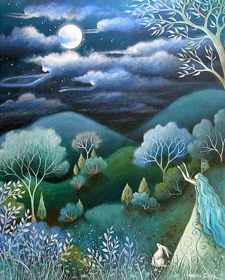 Sky Of Angels Poster by Amanda Clark