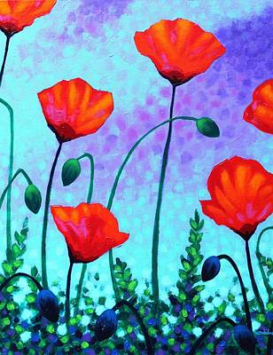 Sky Poppies Poster by John  Nolan