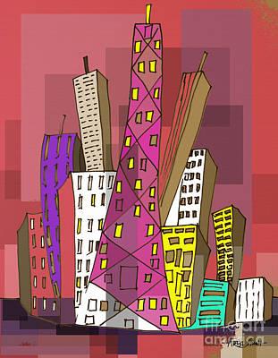 Skyline 3 Poster by Artist Singh